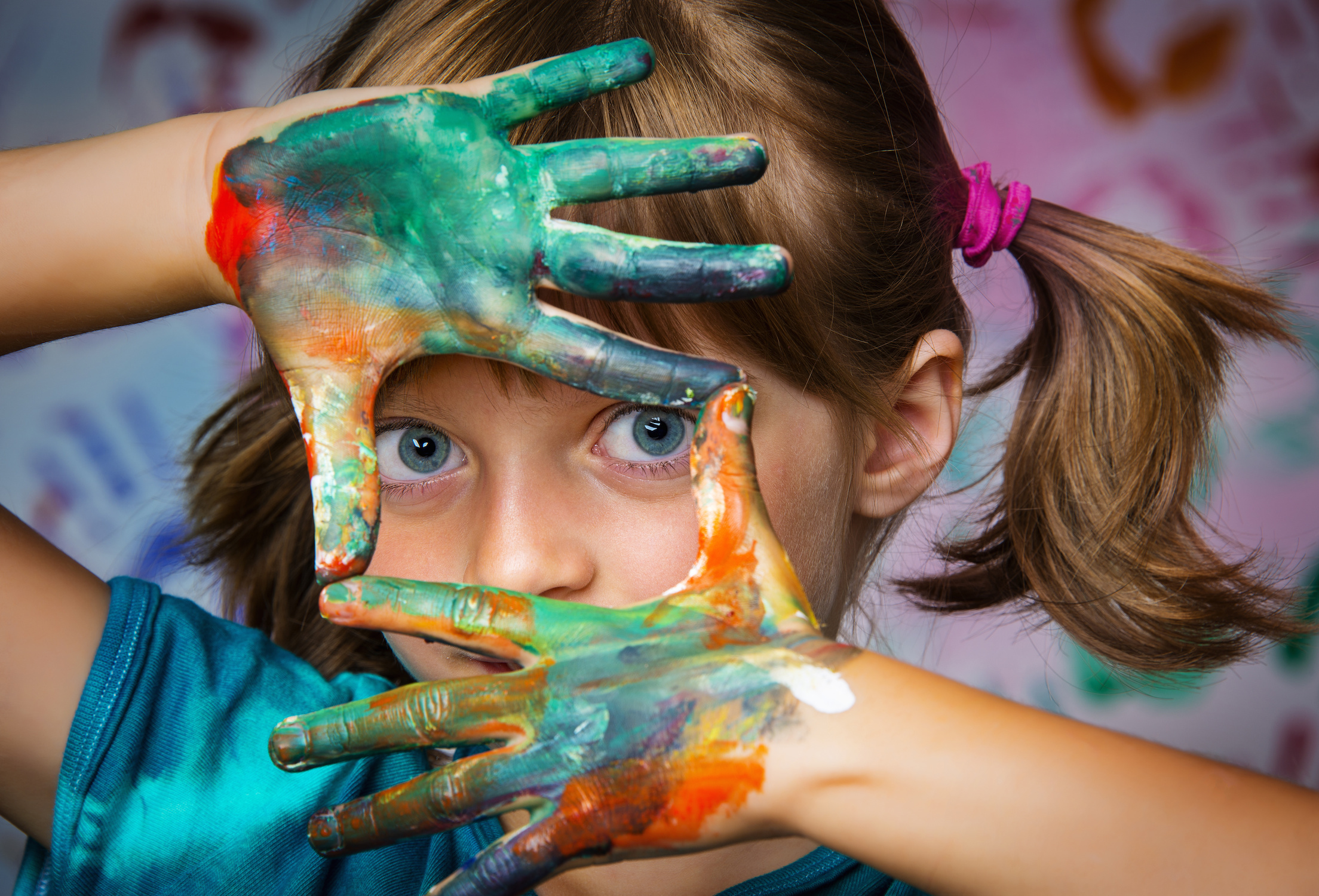 little girl and colors – portrait